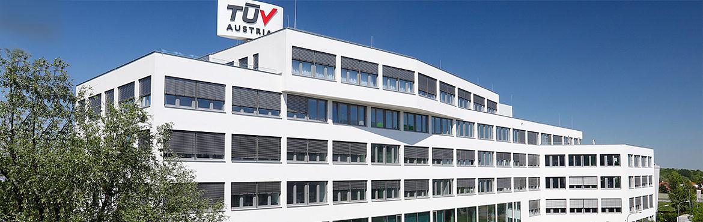 Neuer Standort: TÜV AUSTRIA CAMPUS am TÜV AUSTRIA-Platz 1