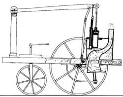"""Die """"Steam Carriage"""" des Schotten William Murdoch, Quelle: Wikipedia"""