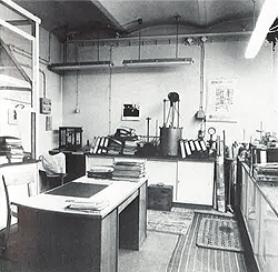 Chemielabor der Nachkriegszeit.
