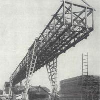 Die Geschichte des TÜV AUSTRIA: Verladebrücke aus Holz