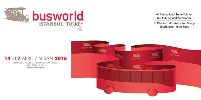 14-17 Nisan 2016 tarihlerinde standımızla BUSWORLD TURKEY Fuarı'ndayız.