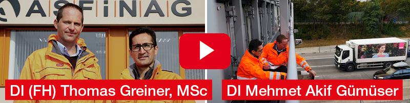 DI (FH) Thomas Greiner, Msc, Dipl.-Ing. Mehmet Akif Gümüser | ASFINAG BAU MANAGEMENT GmbH, Preisträger TÜV AUSTRIA Wissenschaftspreis 2016 | Kategorie Unternehmen