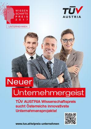 Unternehmenspraxis: TÜV AUSTRIA Wissenschaftspreis