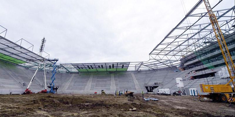 TÜV AUSTRIA Allianz Stadion des SK Rapid im Werkstoff-Test
