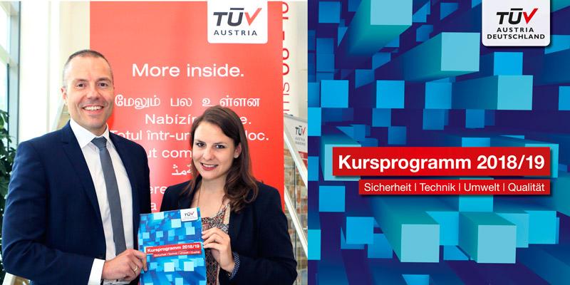Weiter. Kommen. Markus Pflüger und Stefanie Kirchhof präsentieren das neue TÜV AUSTRIA Deutschland Kursprogramm.