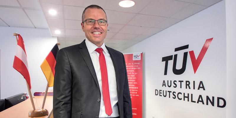 TÜV AUSTRIA Deutschland Geschäftsführer Markus Pflüger bei der Anwendertreff+Expo Maschinensicherheit 26.9.2018, Würzburg
