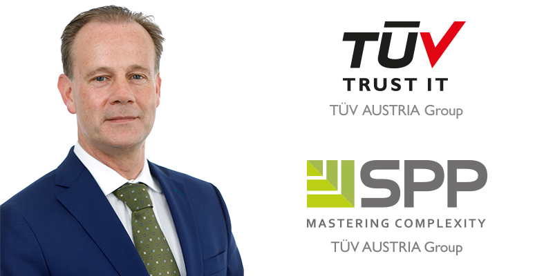 Andreas Köberl is the new managing director of TÜV TRUST IT TÜV AUSTRIA GMBH and SPP Handelsges.m.b.H. in Austria. (C) TÜV AUSTRIA, Andreas Amsüss