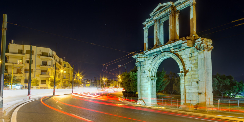 Arch of Hadrian at night, Athens, Greece, (C) Fotolia, Lefteris Papaulakis