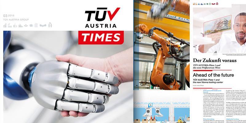 TÜV AUSTRIA TIMES 3/2016: Industrie 4.0, Autonomes, automatisiertes Fahren, Forschung, IT Security, u.v.m